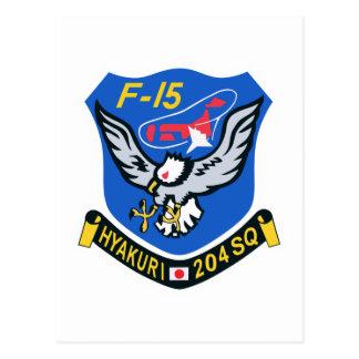 204SQ F-15 Hyakuri Patch Postcard