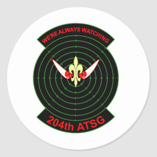 204th Air Traffic Services Group Classic Round Sticker