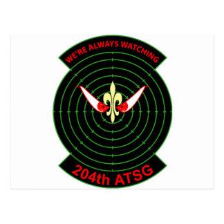 204th Air Traffic Services  Group Postcard