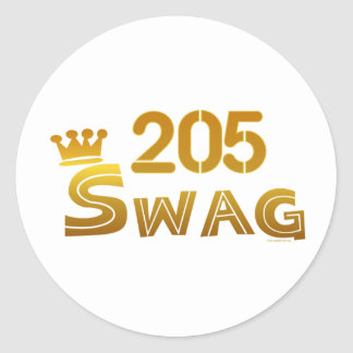 205 Alabama Swag Classic Round Sticker