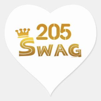 205 Alabama Swag Heart Sticker