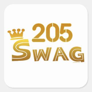 205 Alabama Swag Square Sticker