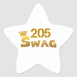 205 Alabama Swag Star Sticker