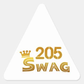 205 Alabama Swag Triangle Sticker