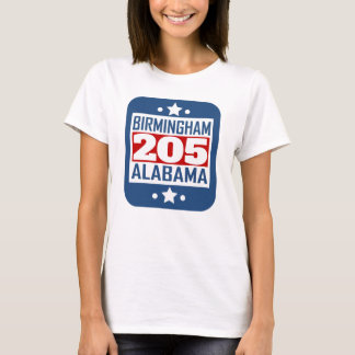 205 Birmingham AL Area Code T-Shirt