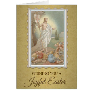 205 Happy Joyful Easter Sunday Greeting Card
