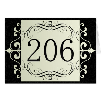 206 Area Code Greeting Cards