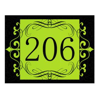 206 Area Code Post Card