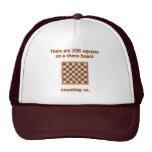 206 cuadrados del ajedrez gorro de camionero