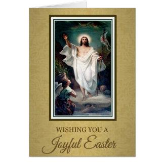 206 Happy Joyful Easter Sunday Greeting Card