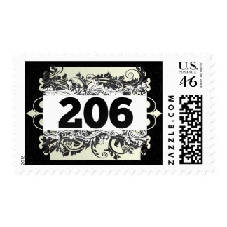 206 POSTAGE STAMPS
