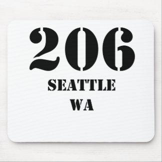 206 Seattle WA Mouse Pad