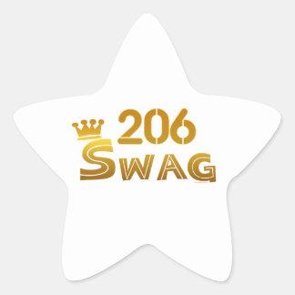 206 Washington Swag Star Stickers