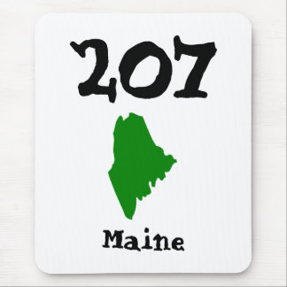 207, Area Code of Maine Mouse Pad