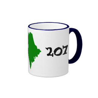 207, area code of Maine! Ringer Coffee Mug