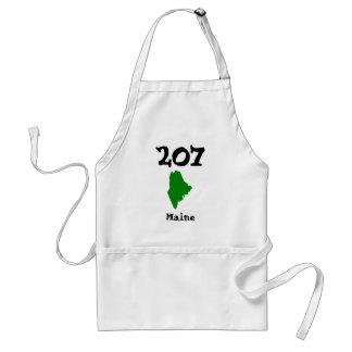 207, código de área de Maine Delantal
