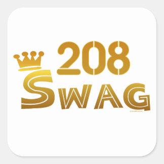 208 Idaho Swag Square Sticker