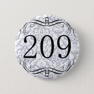 209 Area Code Button