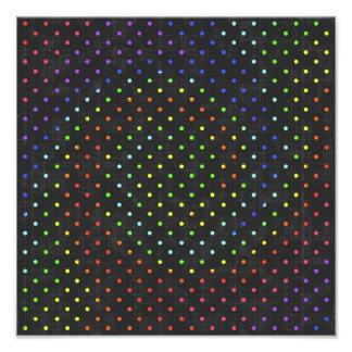 209__neon-paper-black-dots POLKADOTS DOTS CIRCLES Photo Print