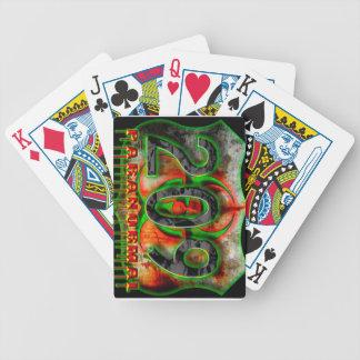 209 Paranormal Logo Bicycle Playing Cards