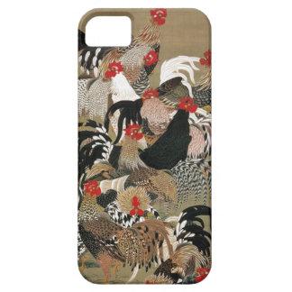 20. 群鶏図, 若冲 Flock of Roosters, Jakuchū, Japan Art iPhone 5 Covers