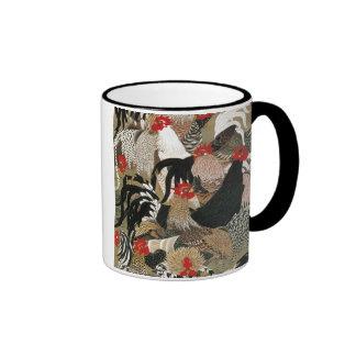 20. 群鶏図, 若冲 Flock of Roosters, Jakuchu Ringer Mug