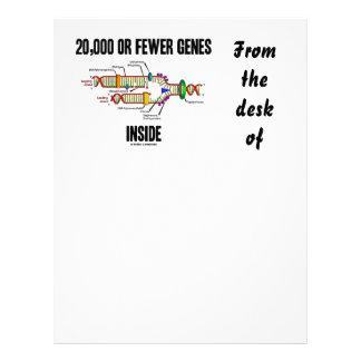 20,000 Or Fewer Genes Inside (DNA Replication) Letterhead