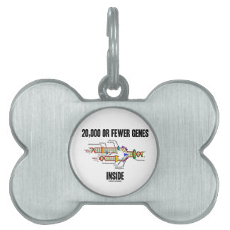 20,000 Or Fewer Genes Inside (DNA Replication) Pet Name Tag