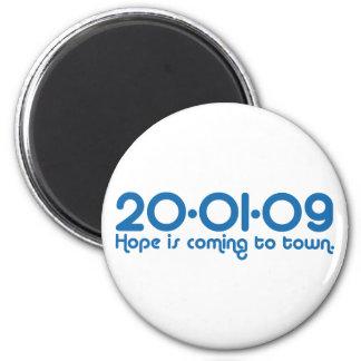 20-01-09 la esperanza está viniendo a la ciudad imán redondo 5 cm
