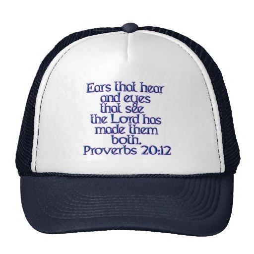 20:12 de los proverbios gorros bordados