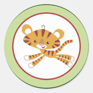 """20 - 1,5"""" animal de la selva de la selva tropical pegatina redonda"""