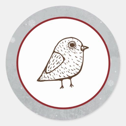 """20 - 1,5"""" árbol del blanco del sello del sobre pegatina redonda"""