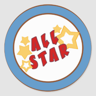 "20 - 1,5"" azul All-star del sello del sobre Etiquetas Redondas"