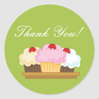 "20 - 1.5""  Bakery Brunette Bake Thank You Stickers"