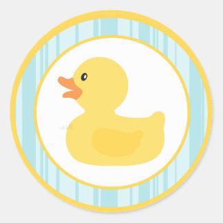 "20 - 1,5"" burbujas Ducky de goma del sello del Etiqueta Redonda"
