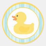 "20 - 1,5"" burbujas Ducky de goma del sello del sob Etiqueta Redonda"