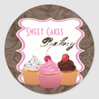 """20 - 1.5""""  Cup Cakes Bakery Sweet Address Stickers"""