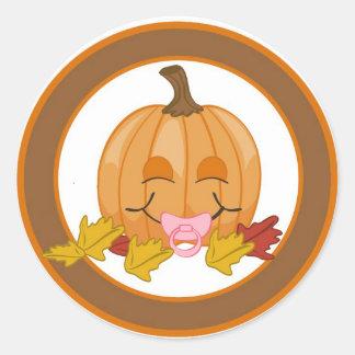 "20 - 1.5""  Envelope Seal Autumn Fall Pumpkin Baby"