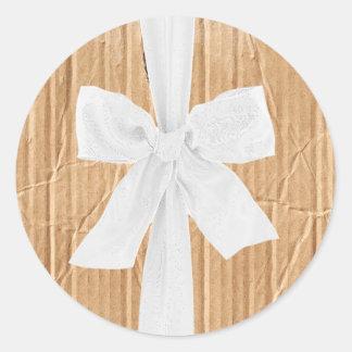 20 - 1.5  Envelope Seal Cardboard Flap White Ribbo