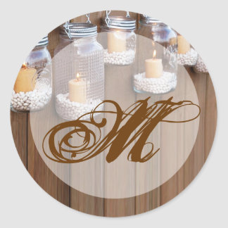 20 - 1.5  Envelope Seal Mason Jar Candle Lights