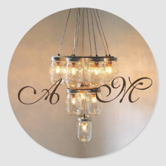 20 - 1.5  Envelope Seal Mason Jar Chandelier Candl