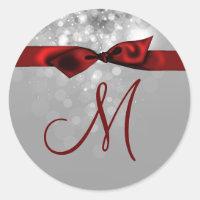 20 - 1.5  Envelope Seal Monogram Christmas XMAS