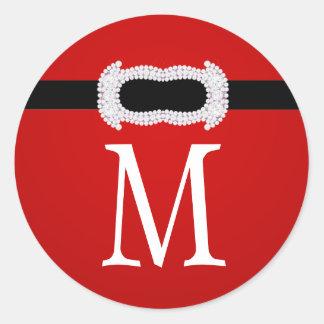 20 - 1.5  Envelope Seal Monogram Christmas XMAS Sticker