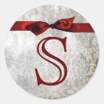 20 - 1.5  Envelope Seal Monogram Christmas XMAS Stickers
