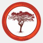 "20 - 1.5"" Envelope Seal Red Sunset in Africa Sticker"