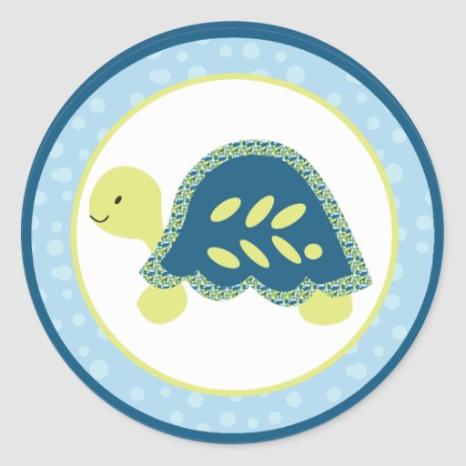 "20 - 1.5"" Envelope Seal Sea Turtle Reef Ocean Classic Round Sticker"