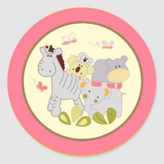 """20 - 1.5"""" Envelope Seal Tropical Punch Classic Round Sticker"""
