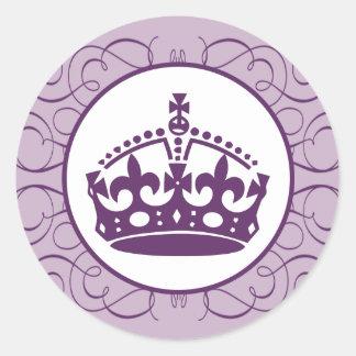 foto de Purple Crowns Stickers Zazzle