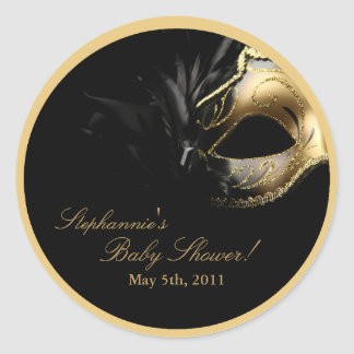"20 - 1.5""  Favor Stickers Masquerade Mask Sweet 16"