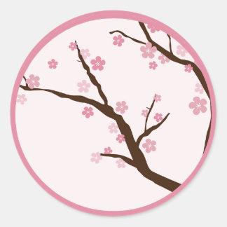 """20 - 1,5"""" flor de cerezo del PESO del sello del Pegatina Redonda"""